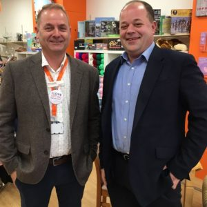 Wayne Stepney, Retail Manager at St Catherine's Hospice with Acopian Account Director Keith Gilbert.