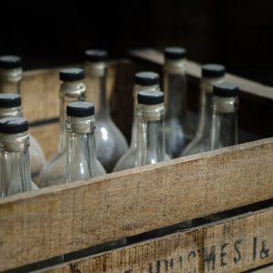 Glass bottle packaging