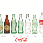 Bottles of coca-cola bottles over 200 years