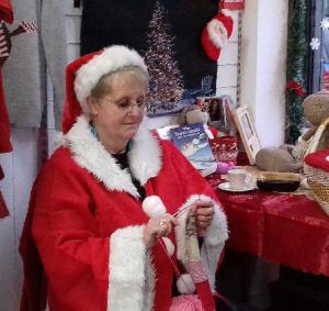 Cat's Protection Knitting Santa!